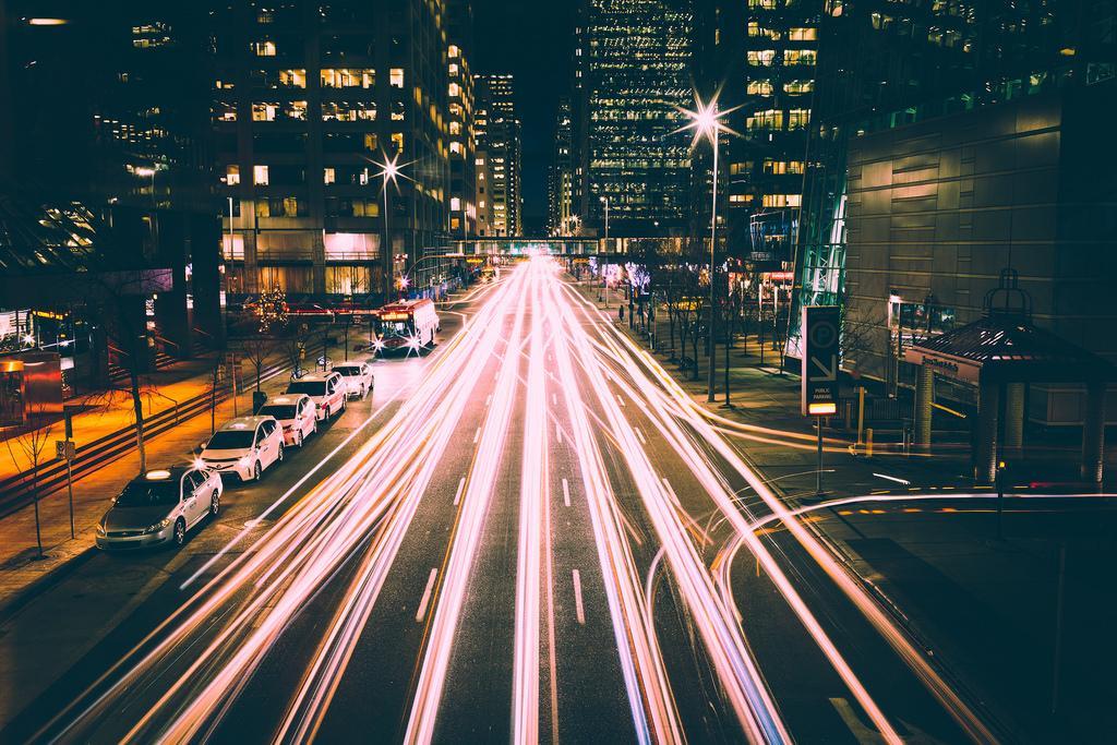 Ночной трафик в Калгари