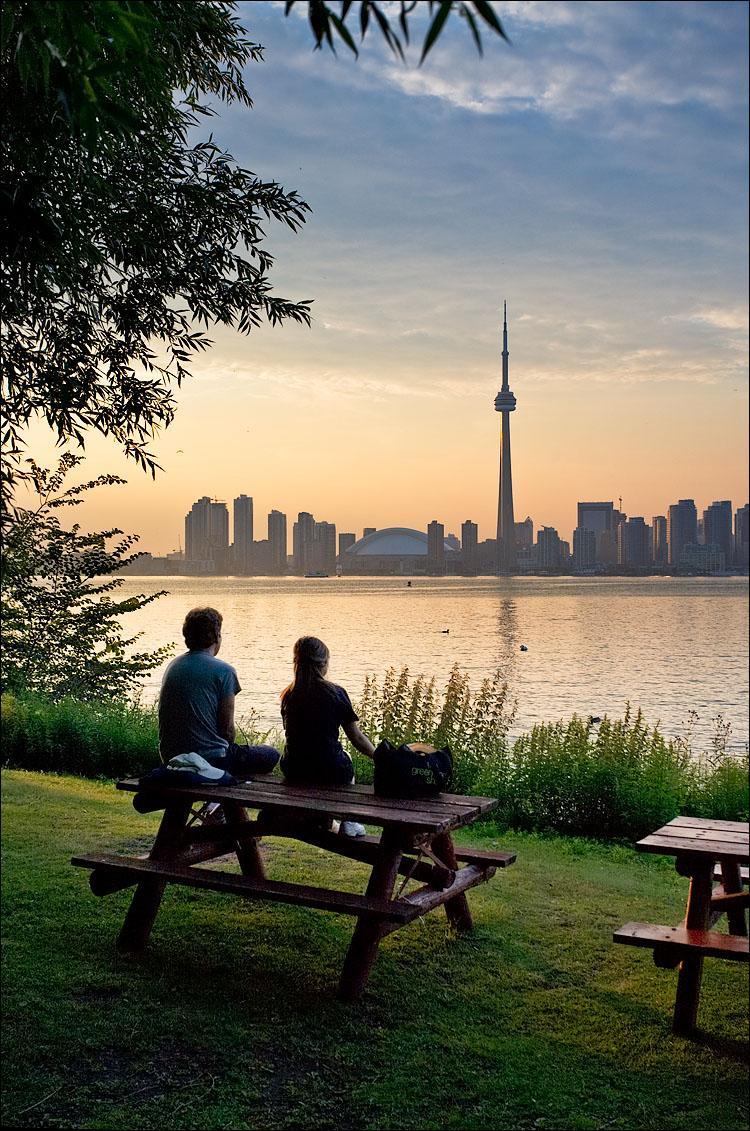 Парк  видом на город