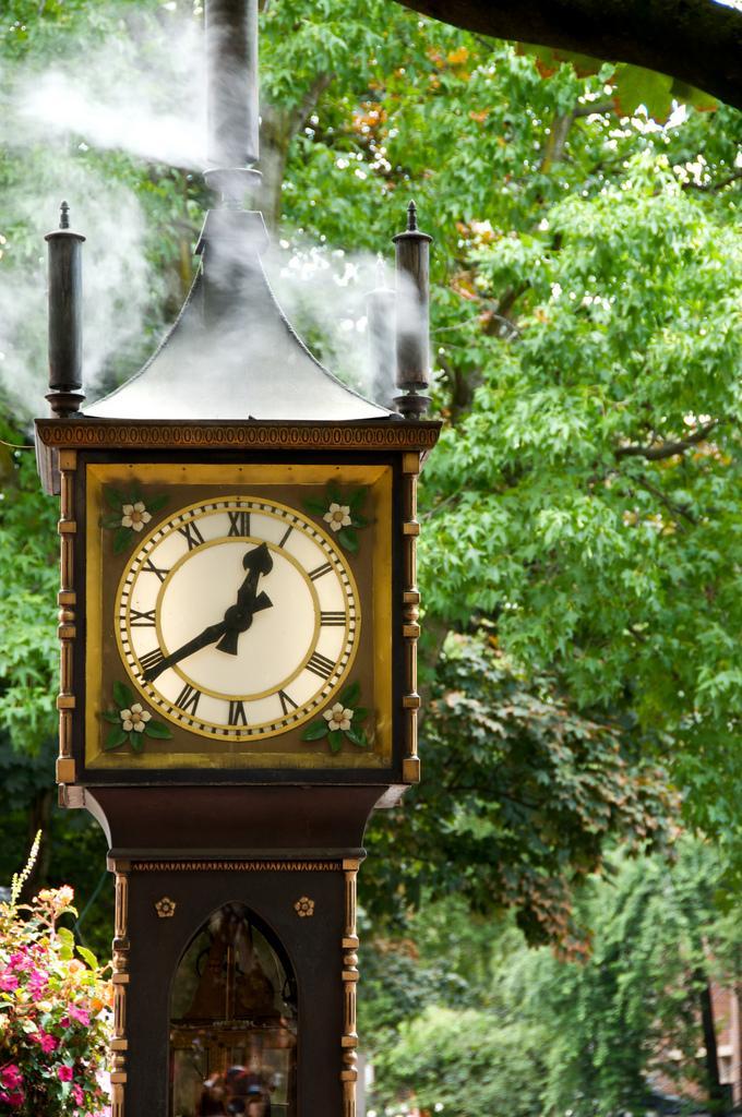 Паровые часы в Гэстауне