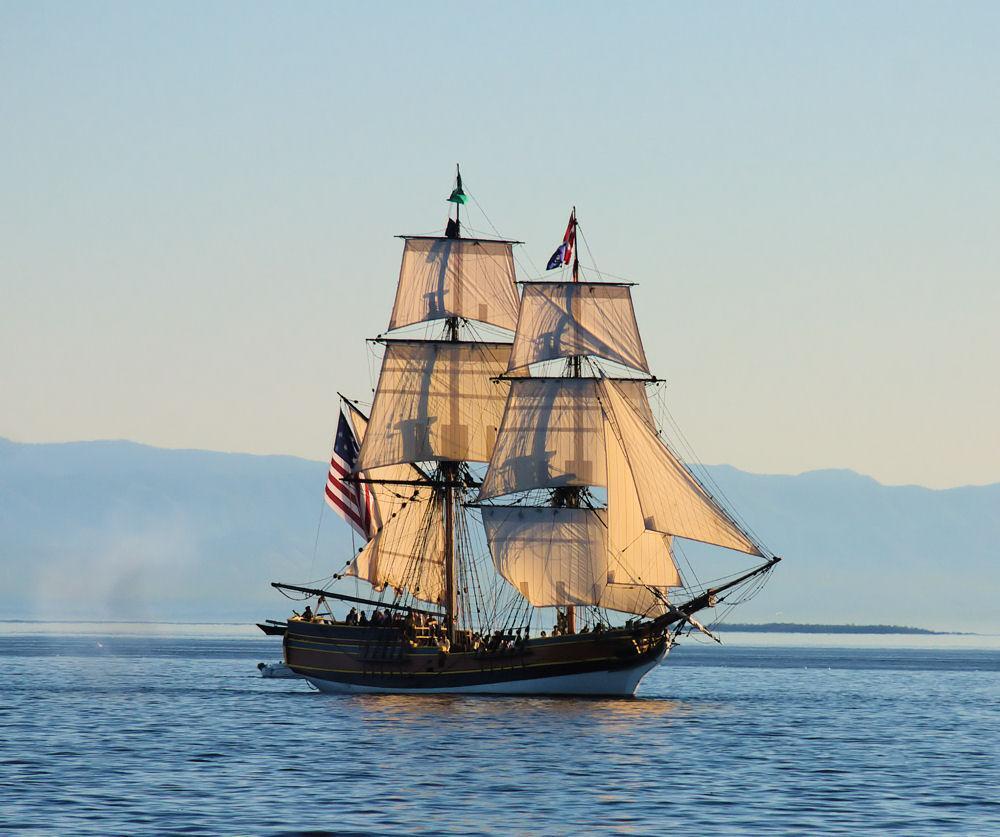Американский парусный корабль