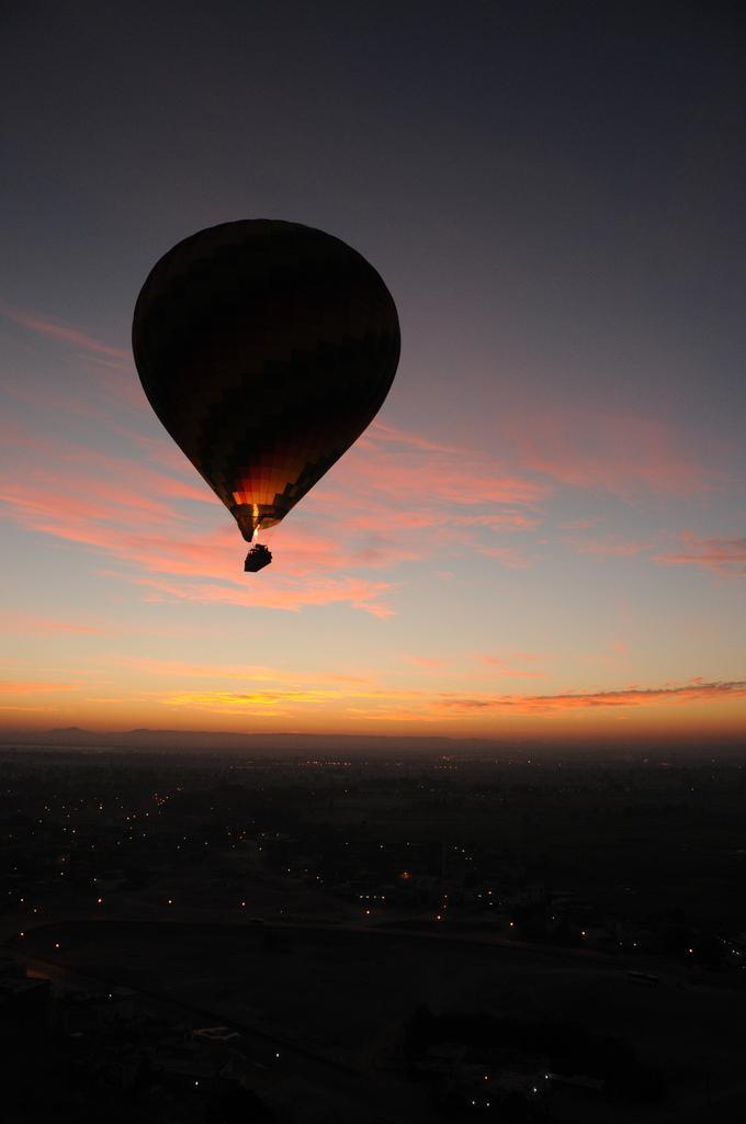 Вечерний полет на воздушном шаре