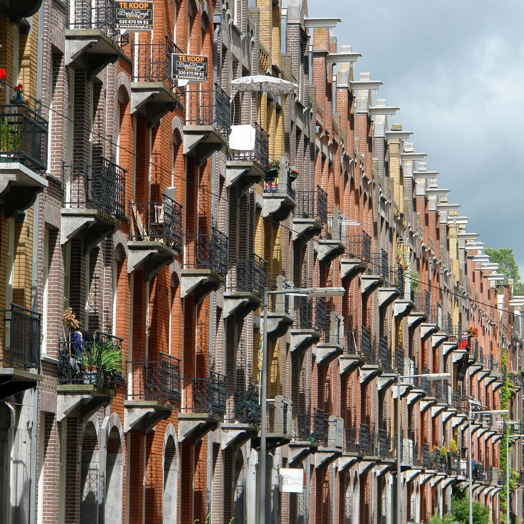 Фасады домов Амстердама