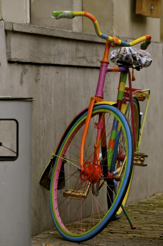 Цветной велосипед