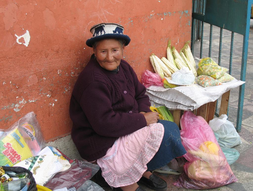Продавщица кукурузы