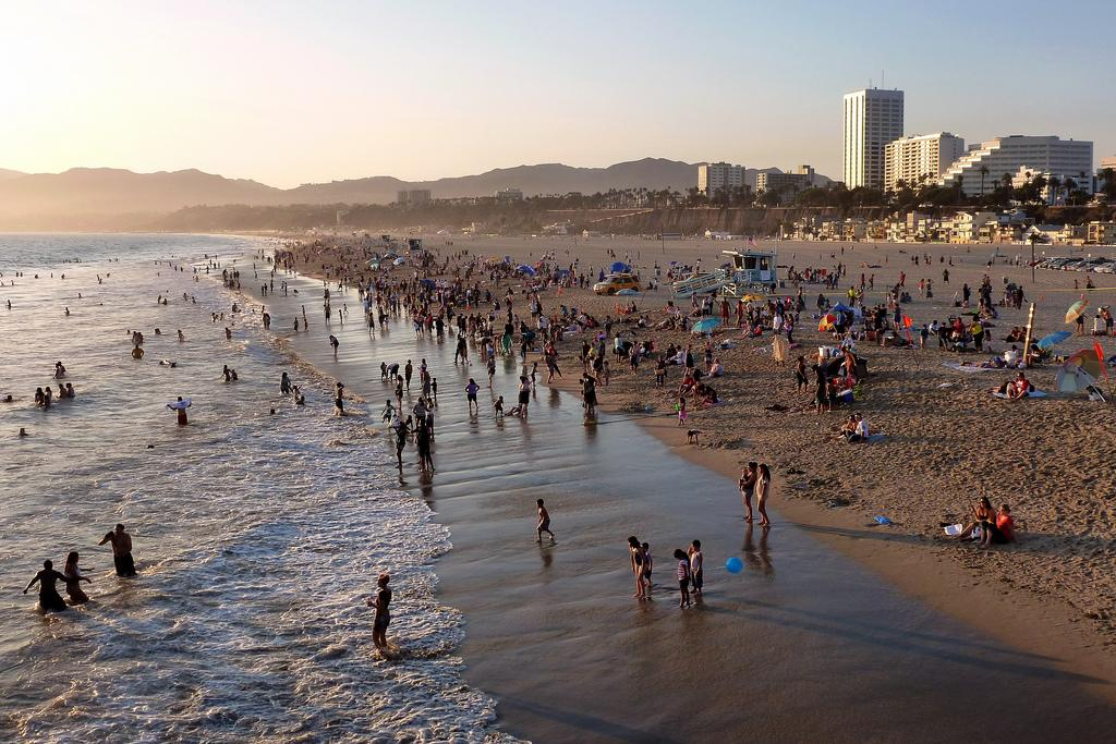 Пляж Санта Моника
