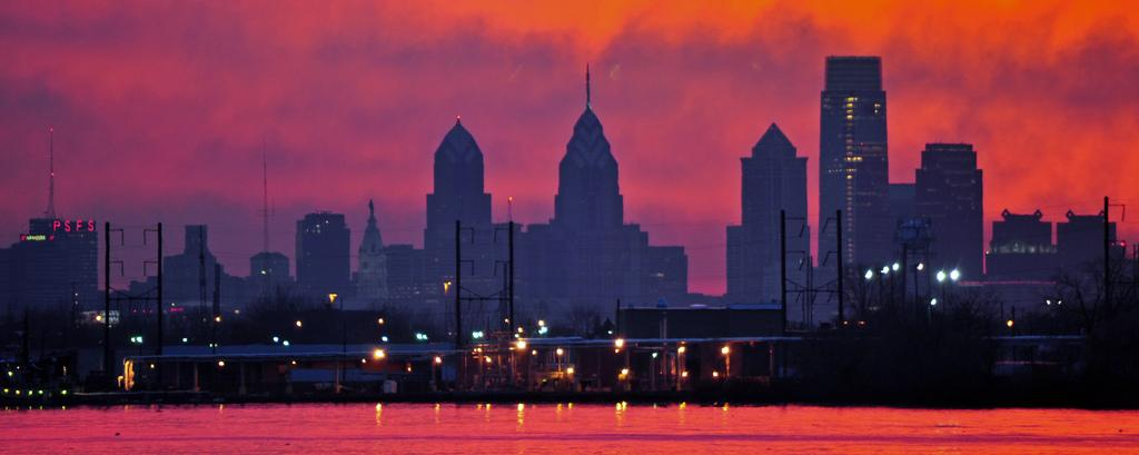 Закат над Филадельфией