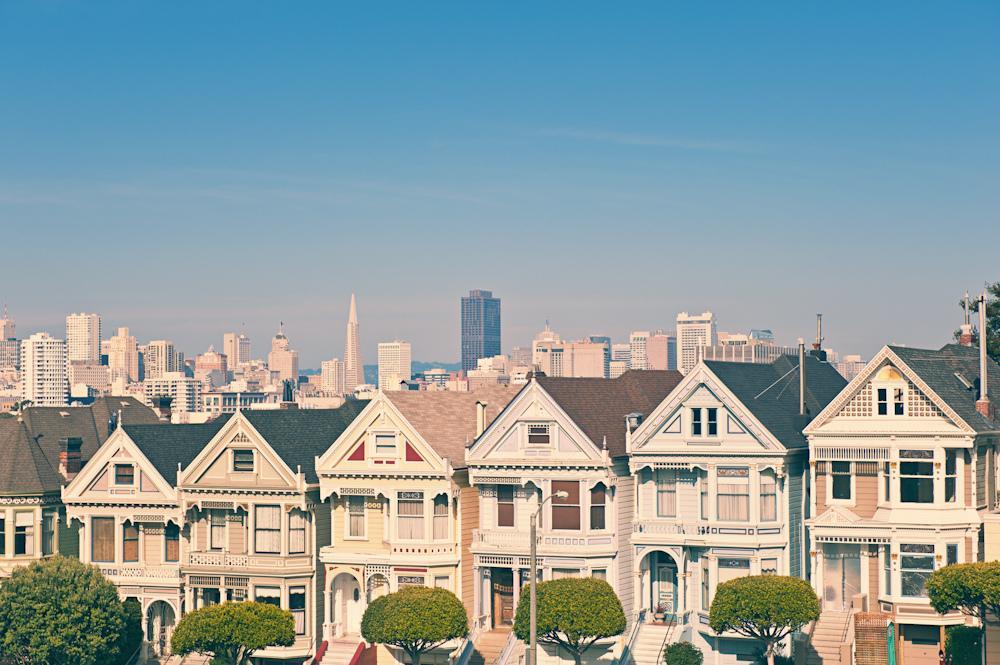 Вид на центр города из спальных районов